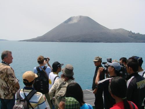 Krakatau, an active volcano, Lampung Indonesia