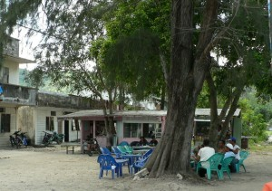 coffee shop at Balohan seaport