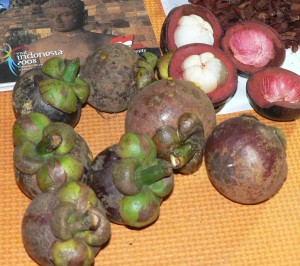 Manggis,Mangosteen, Indonesian exotic fruit